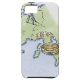Ejemplo de la torre Eiffel en París y iPhone 5 Protector