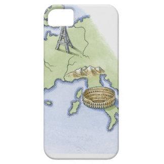 Ejemplo de la torre Eiffel en París y iPhone 5 Fundas