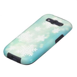 Ejemplo de la trama de copos de nieve que brillan galaxy SIII cobertura