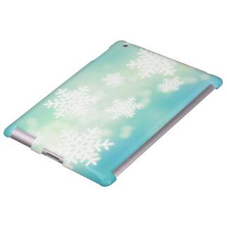 Ejemplo de la trama de copos de nieve que brillan  funda para iPad