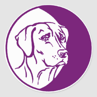 Ejemplo de Labrador Pegatina Redonda