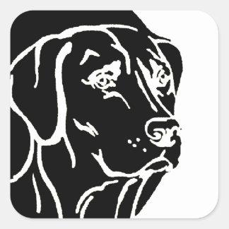 Ejemplo de Labrador Calcomanias Cuadradas