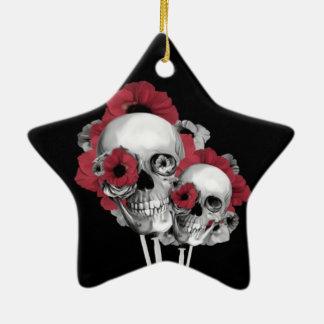 Ejemplo de las amapolas del cráneo ornamentos para reyes magos