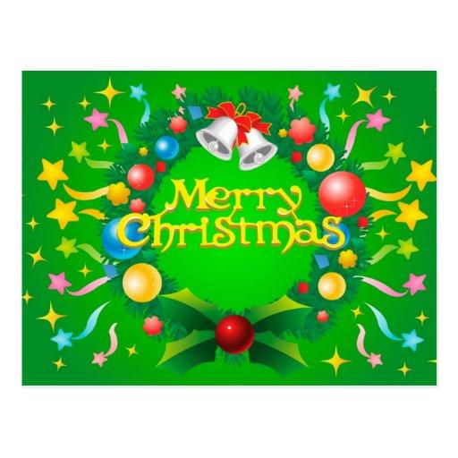 Ejemplo de las Felices Navidad Postales