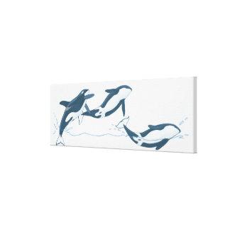 Ejemplo de las orcas (orca del Orcinus) Impresión En Lienzo Estirada