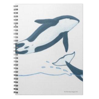 Ejemplo de las orcas (orca del Orcinus) Libros De Apuntes Con Espiral