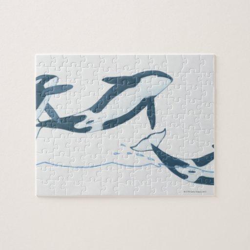 Ejemplo de las orcas (orca del Orcinus) Rompecabeza