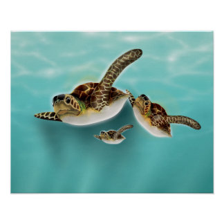 Ejemplo de las tortugas de mar posters