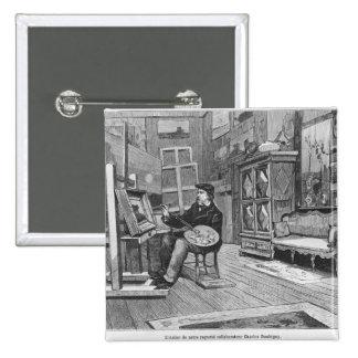 """Ejemplo de """"Le Monde Illustre Pin Cuadrada 5 Cm"""