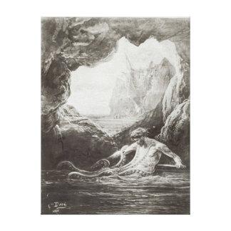 Ejemplo de Les Travailleurs de la Mer Impresión En Lona Estirada