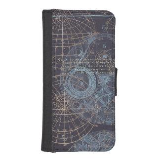 Ejemplo de libro de la ciencia del vintage billetera para teléfono