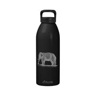 Ejemplo de los 1800s del vintage del elefante blan botellas de beber
