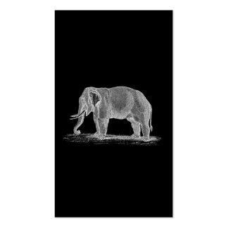 Ejemplo de los 1800s del vintage del elefante blan tarjetas de visita
