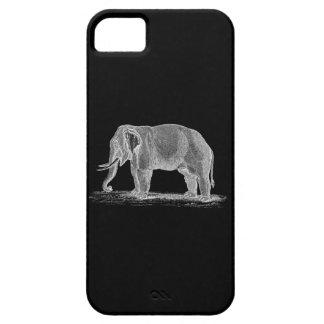 Ejemplo de los 1800s del vintage del elefante iPhone 5 Case-Mate cobertura