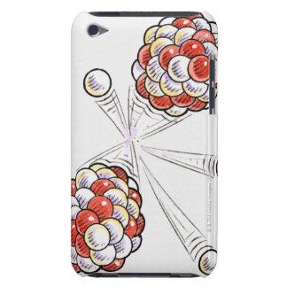 Ejemplo de los átomos y de los neutrones de la fra iPod touch Case-Mate coberturas