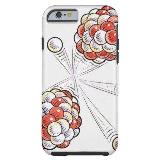 Ejemplo de los átomos y de los neutrones de la funda de iPhone 6 tough