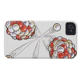 Ejemplo de los átomos y de los neutrones de la iPhone 4 protector