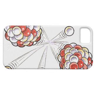 Ejemplo de los átomos y de los neutrones de la iPhone 5 funda