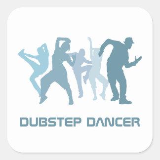 Ejemplo de los bailarines de Dubstep Pegatina Cuadrada