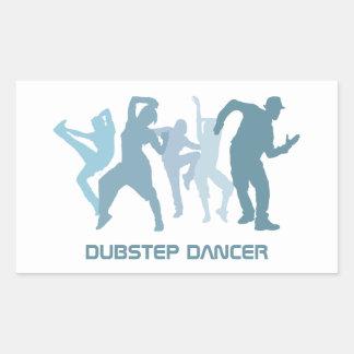 Ejemplo de los bailarines de Dubstep Pegatina Rectangular