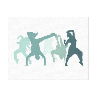 Ejemplo de los bailarines de Hip Hop Impresión De Lienzo