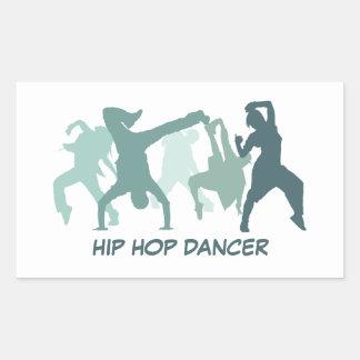 Ejemplo de los bailarines de Hip Hop Pegatina Rectangular