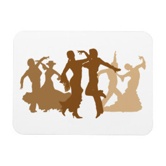 Ejemplo de los bailarines del flamenco imanes rectangulares