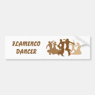Ejemplo de los bailarines del flamenco pegatina para auto