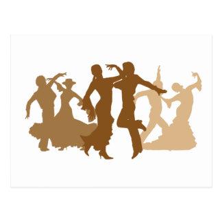 Ejemplo de los bailarines del flamenco postales