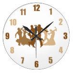 Ejemplo de los bailarines del flamenco reloj redondo grande