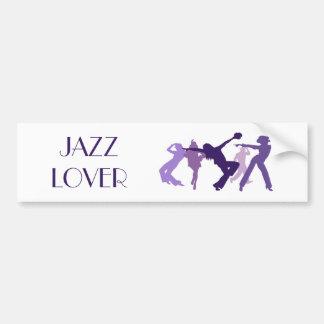 Ejemplo de los bailarines del jazz pegatina para auto
