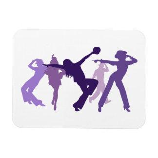 Ejemplo de los bailarines del jazz imán de vinilo