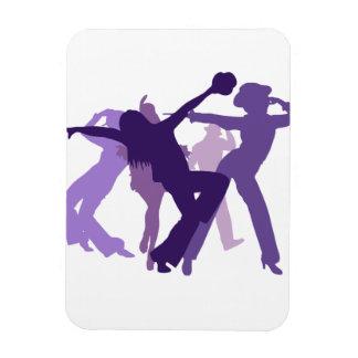 Ejemplo de los bailarines del jazz imán rectangular