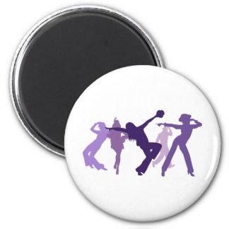 Ejemplo de los bailarines del jazz imán redondo 5 cm