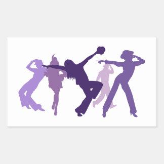 Ejemplo de los bailarines del jazz pegatina rectangular