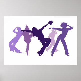 Ejemplo de los bailarines del jazz póster