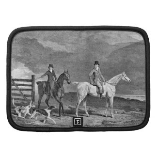 Ejemplo de los caballos y de los perros de la caza planificadores