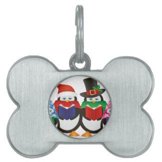 Ejemplo de los Carolers del navidad de los Placa De Mascota