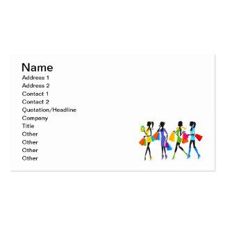 Ejemplo de los chicas de compras de la moda tarjeta de visita