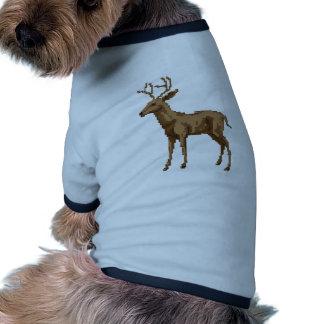 Ejemplo de los ciervos del arte del pixel ropa de perro