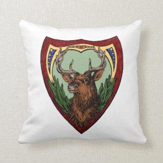 Ejemplo de los ciervos del vintage Re-Coloreado Cojín Decorativo