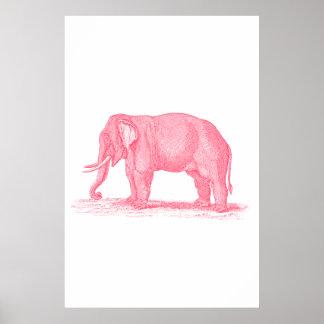 Ejemplo de los elefantes de los 1800s del elefante impresiones