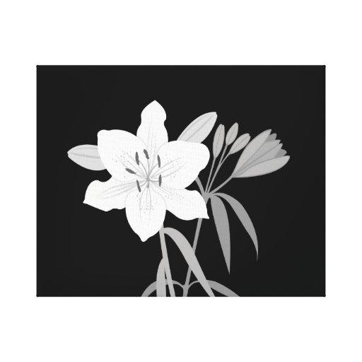Ejemplo de los lirios en monocromo impresiones de lienzo