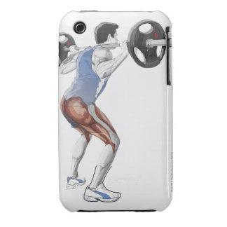 Ejemplo de los músculos usados por el hombre para Case-Mate iPhone 3 fundas