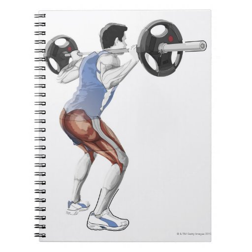 Ejemplo de los músculos usados por el hombre para  libro de apuntes con espiral