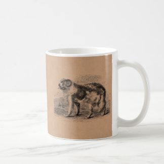 Ejemplo de los perros de los 1800s del perro de taza