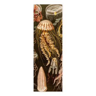 Ejemplo de los pescados de jalea de la antigüedad tarjeta de negocio