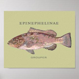 Ejemplo de los pescados del mero póster