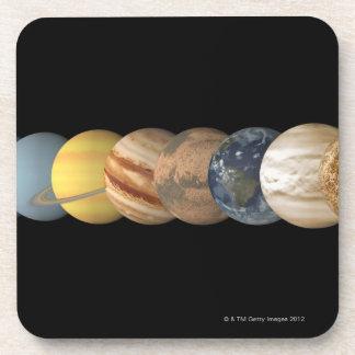 Ejemplo de los planetas alineados posavaso