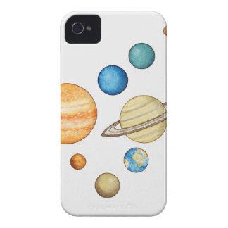 Ejemplo de los planetas de la Sistema Solar iPhone 4 Case-Mate Cárcasa